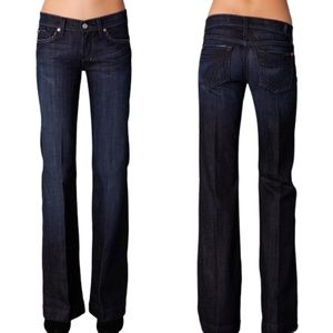 7 For All Mankind Jeans - 7 For All Mankind Dojo Jean Low Rise Flare Size 25